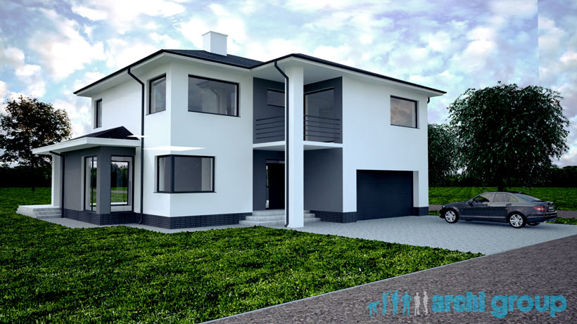 Projekt Koncepcyjny Elewacji Domu Tarnowskie Góry Architekt