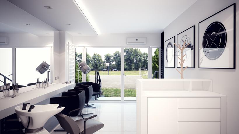 Projekt Aranżacja Wnętrz Salon Fryzjerski Pod Włos Pfb19 Bytom