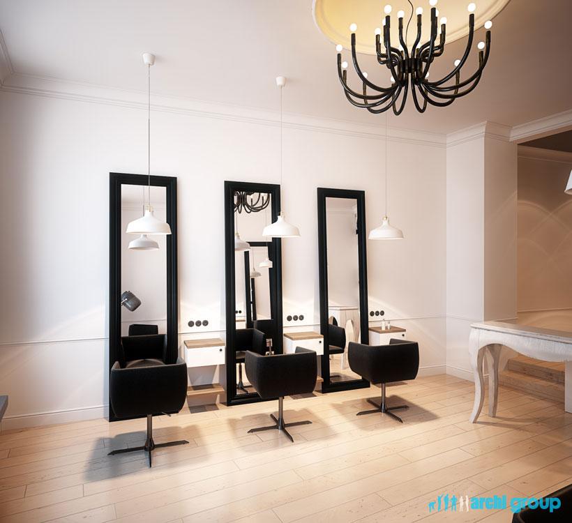 Projekt Aranżacja Wnętrz Salon Fryzjerski Pfb38 Bytom